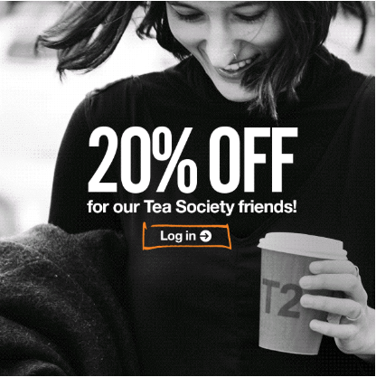 Tea Society 20% Off
